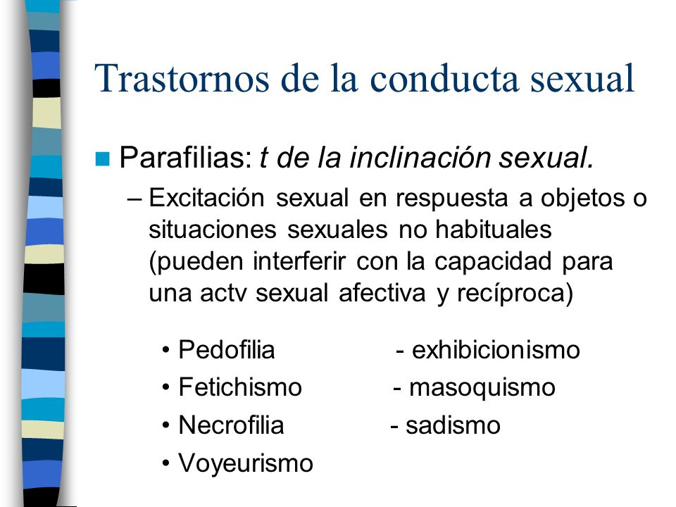 Trastornos de la conducta sexual