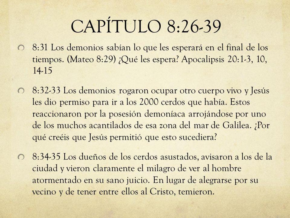 CAPÍTULO 8:26-39