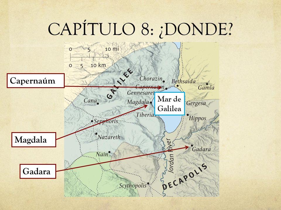 CAPÍTULO 8: ¿DONDE Capernaúm Mar de Galilea Magdala Gadara