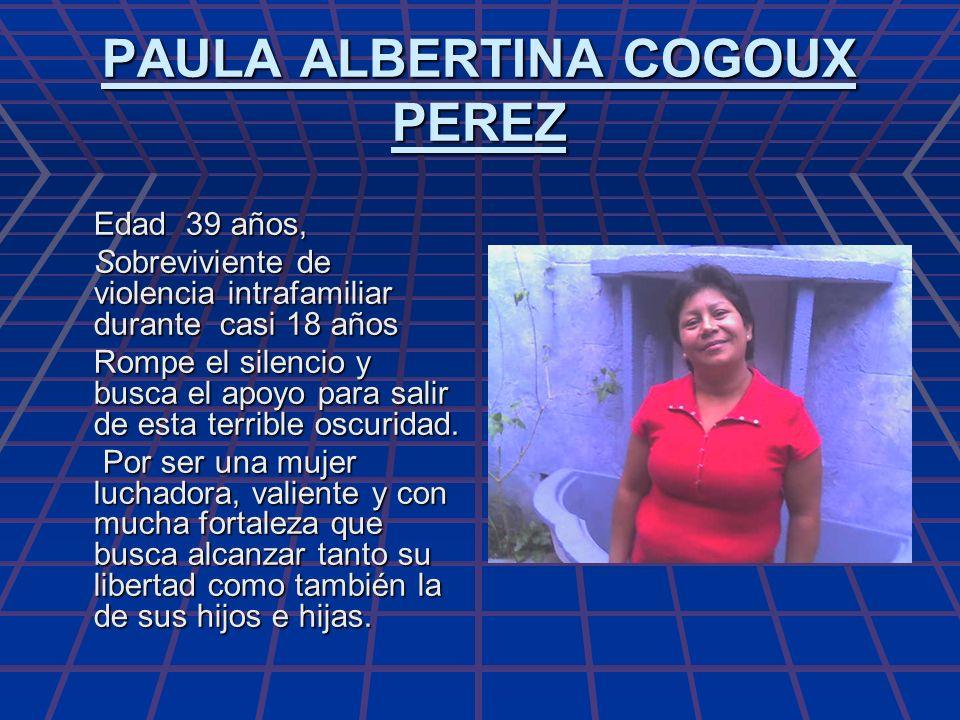 PAULA ALBERTINA COGOUX PEREZ