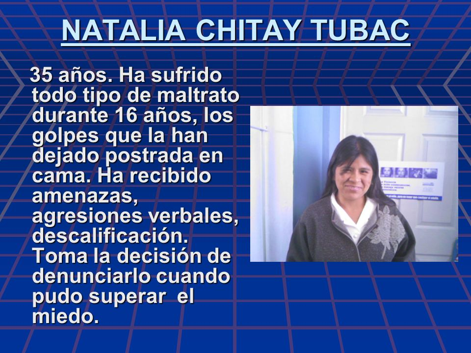 NATALIA CHITAY TUBAC