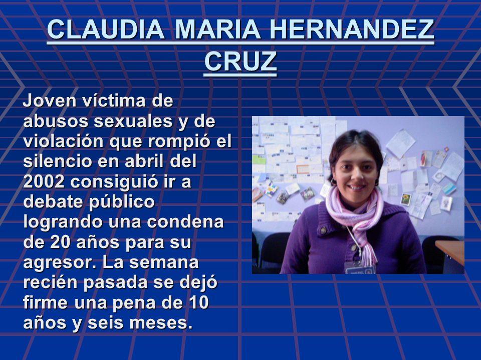 CLAUDIA MARIA HERNANDEZ CRUZ