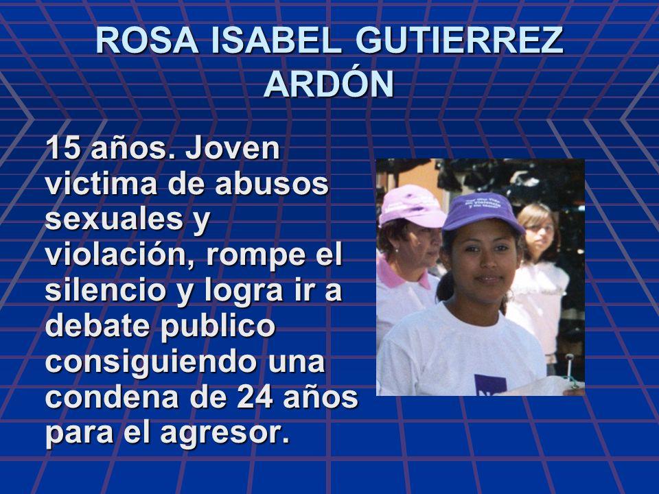 ROSA ISABEL GUTIERREZ ARDÓN