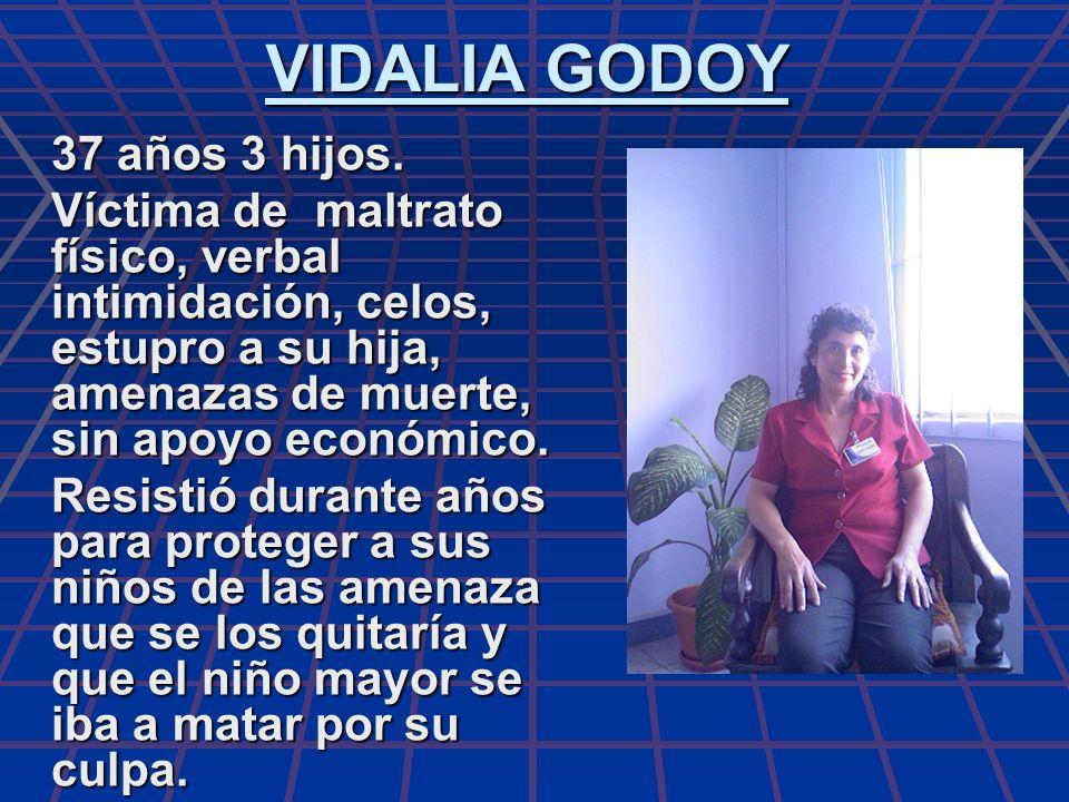 VIDALIA GODOY 37 años 3 hijos.