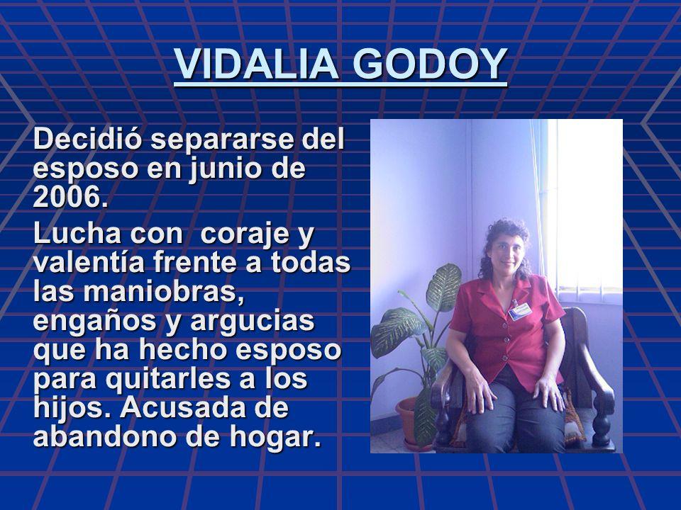 VIDALIA GODOY Decidió separarse del esposo en junio de 2006.