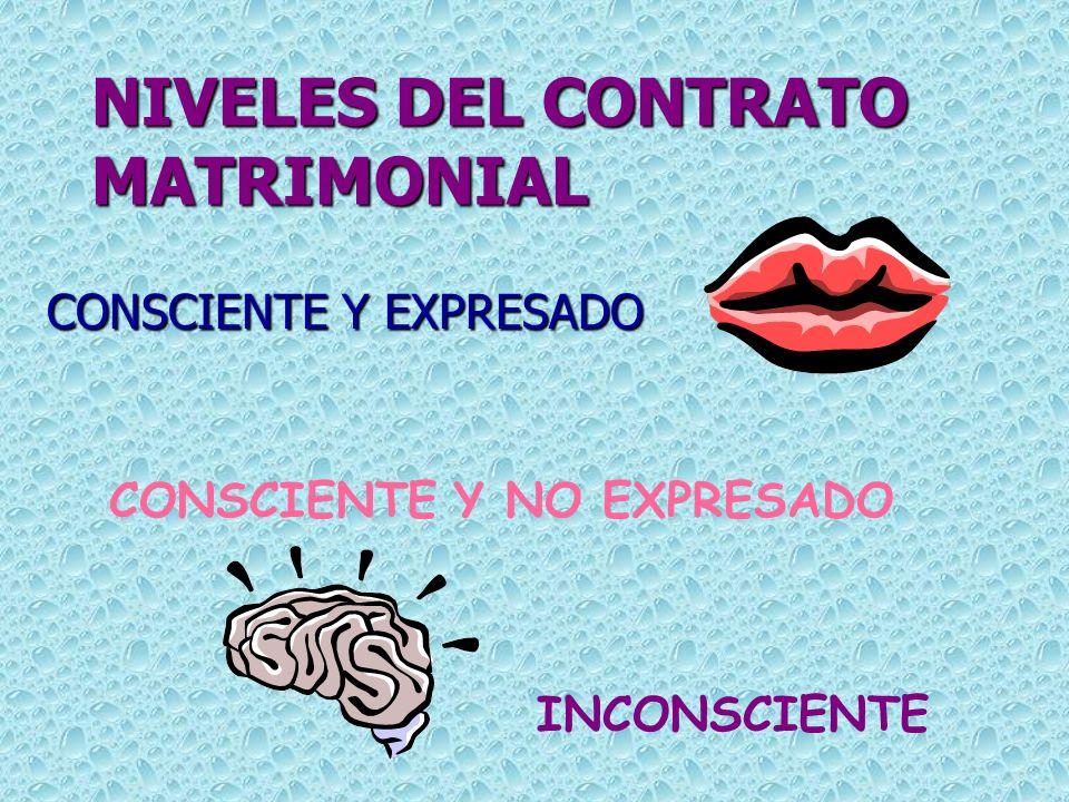NIVELES DEL CONTRATO MATRIMONIAL
