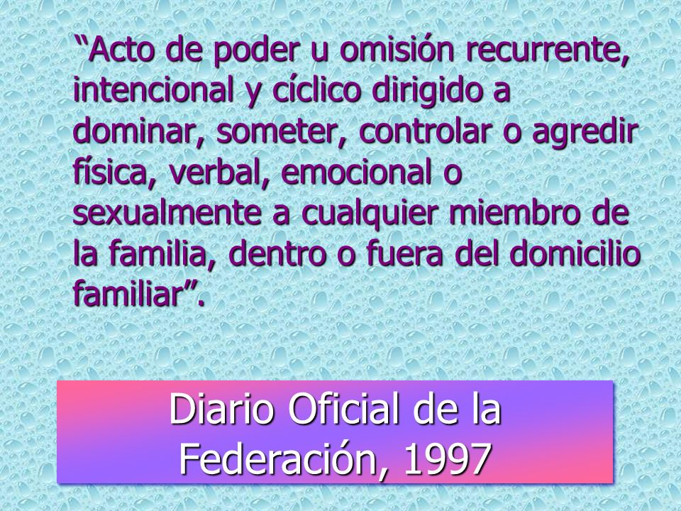 Diario Oficial de la Federación, 1997