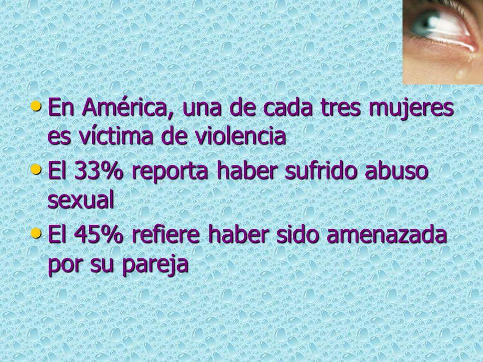 En América, una de cada tres mujeres es víctima de violencia