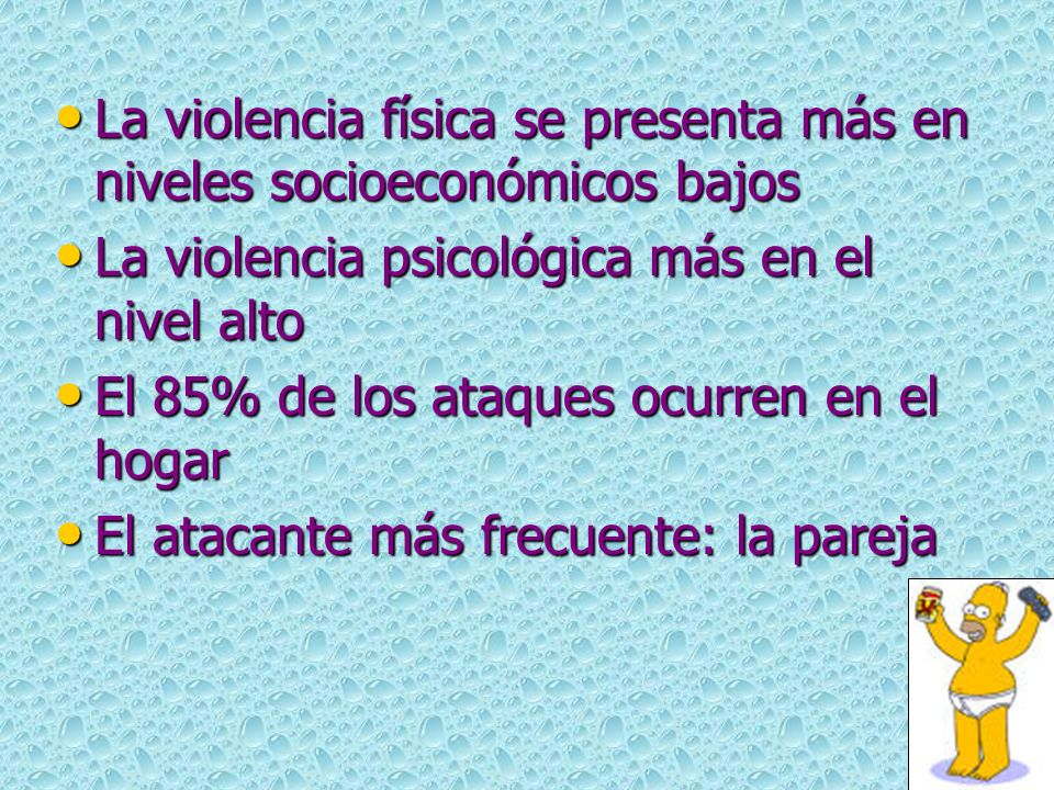 La violencia física se presenta más en niveles socioeconómicos bajos