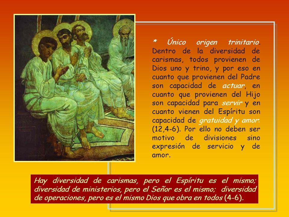 Único origen trinitario