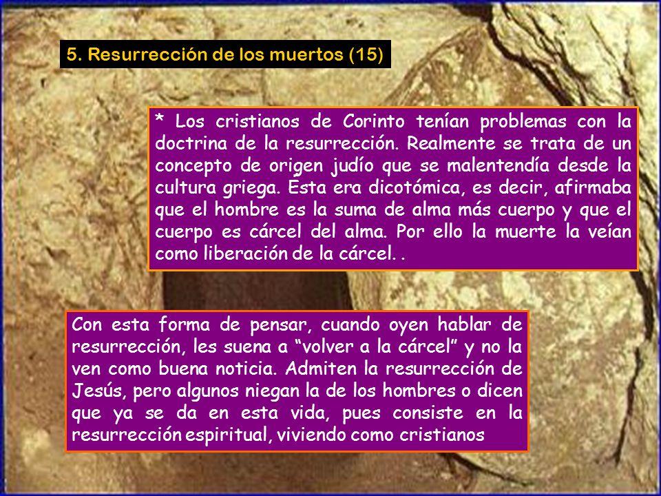 5. Resurrección de los muertos (15)