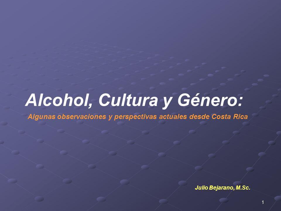 Alcohol, Cultura y Género: