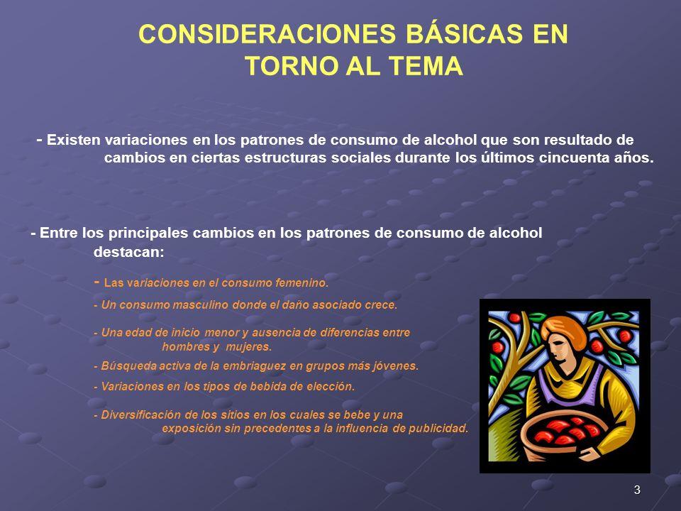 CONSIDERACIONES BÁSICAS EN TORNO AL TEMA