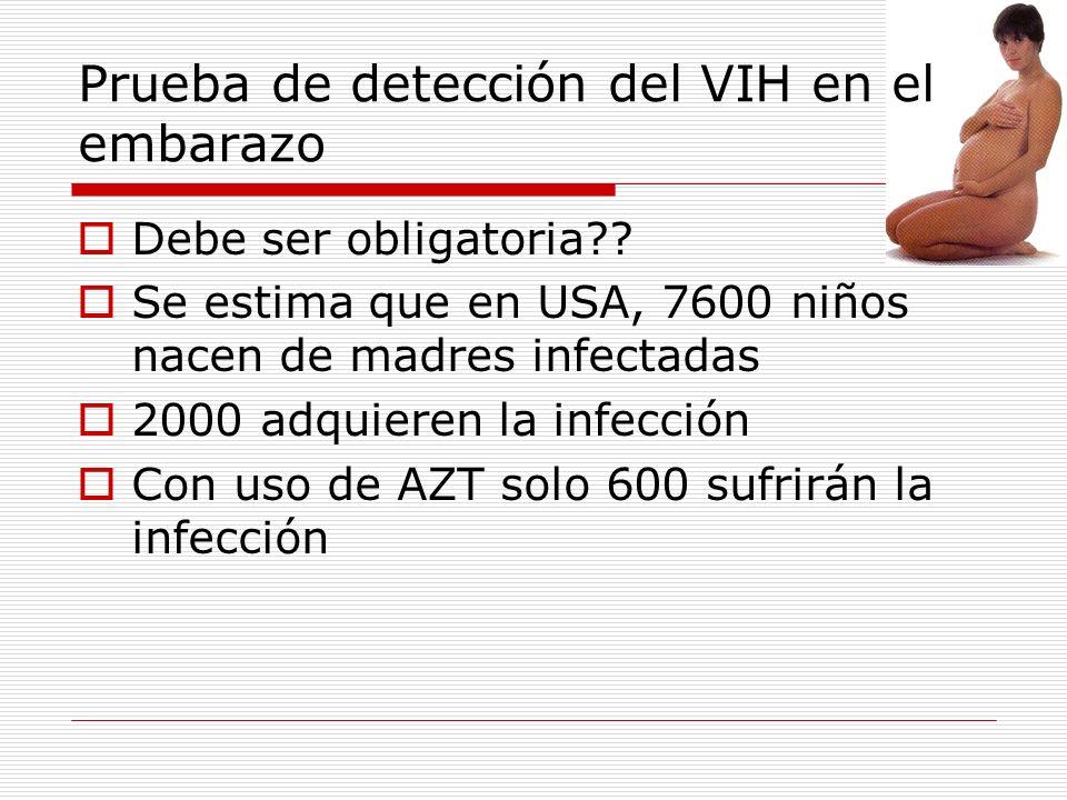 Prueba de detección del VIH en el embarazo