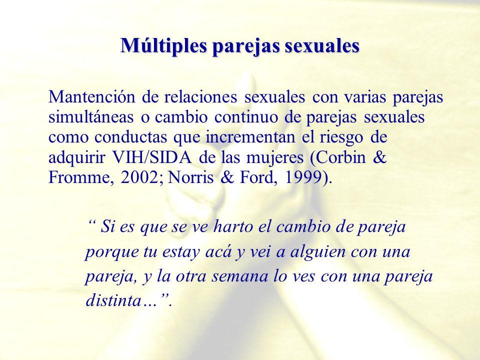 Múltiples parejas sexuales