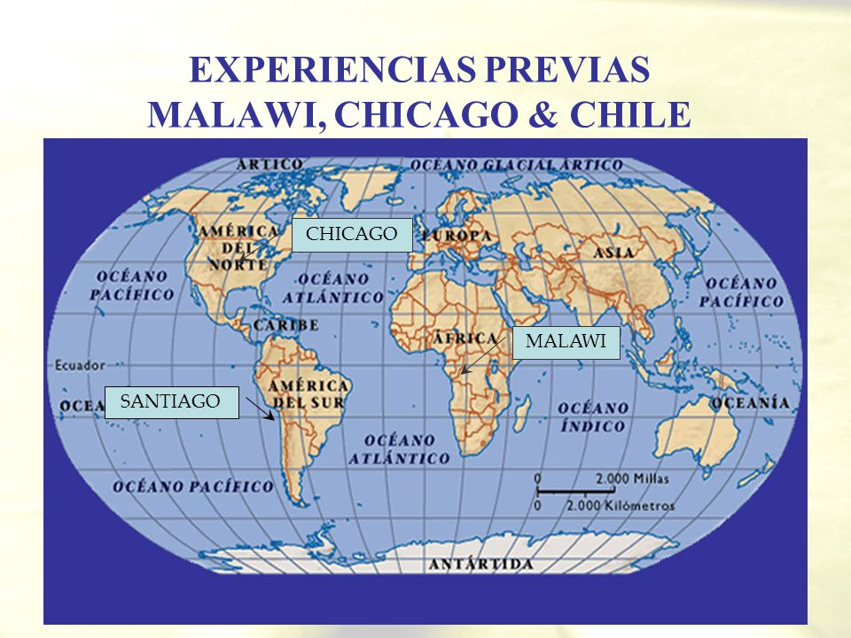 EXPERIENCIAS PREVIAS MALAWI, CHICAGO & CHILE