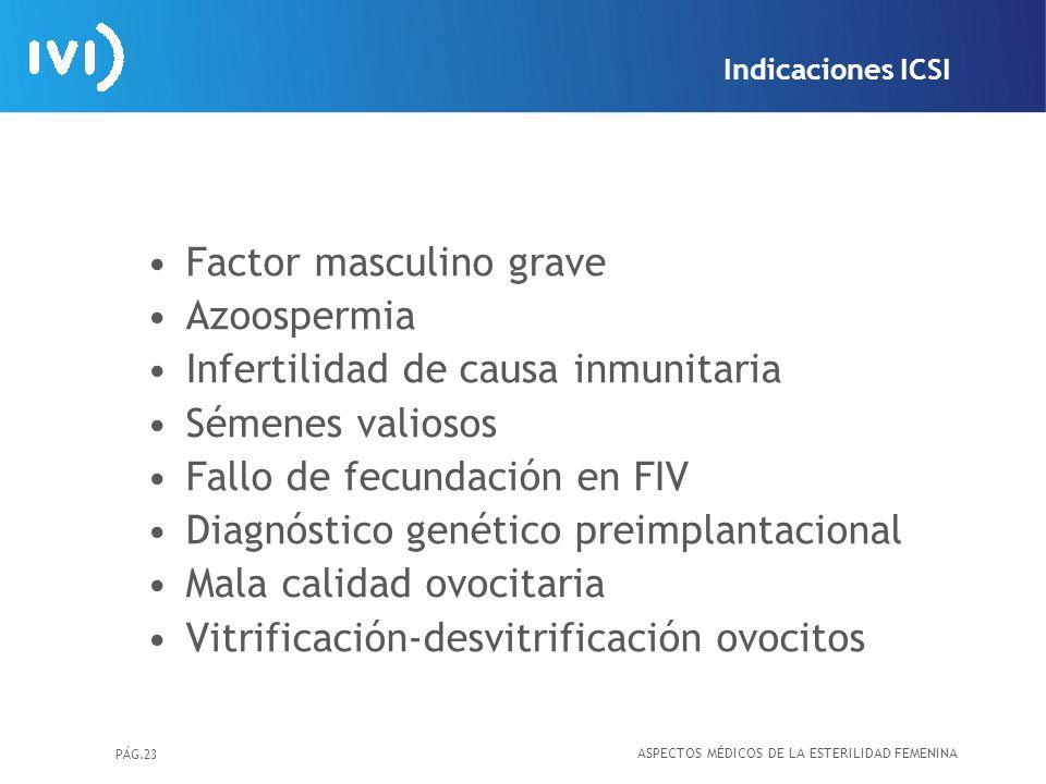 Factor masculino grave Azoospermia Infertilidad de causa inmunitaria