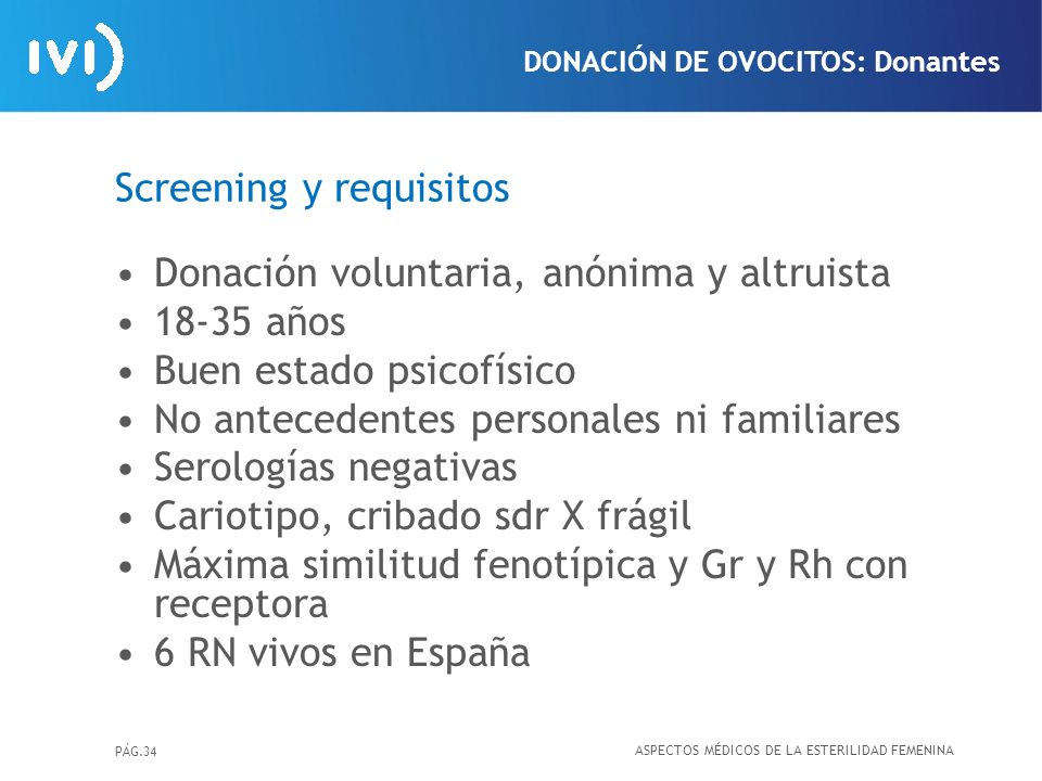 Screening y requisitos