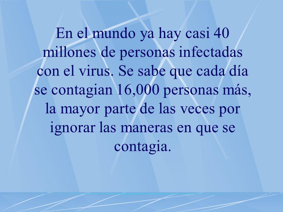 En el mundo ya hay casi 40 millones de personas infectadas con el virus.