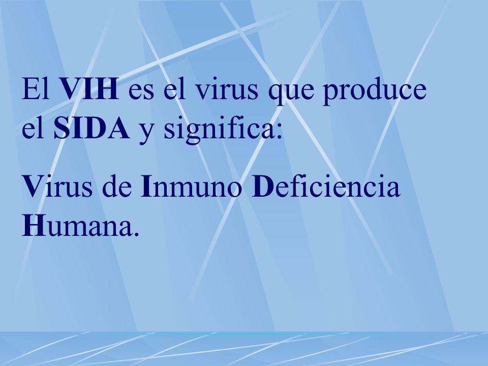 El VIH es el virus que produce el SIDA y significa: