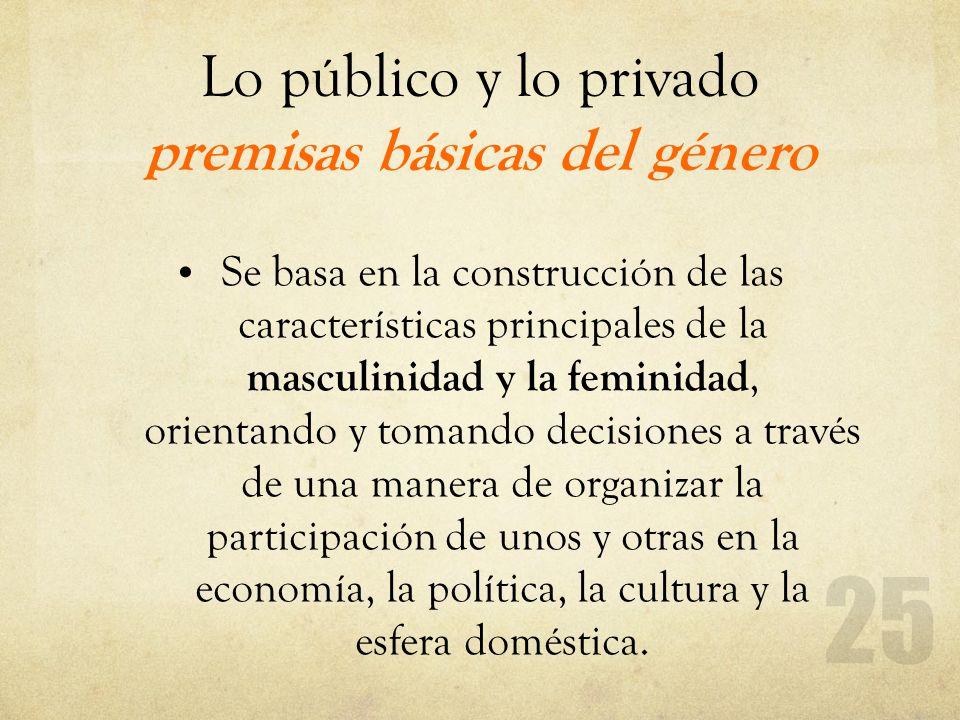 Lo público y lo privado premisas básicas del género
