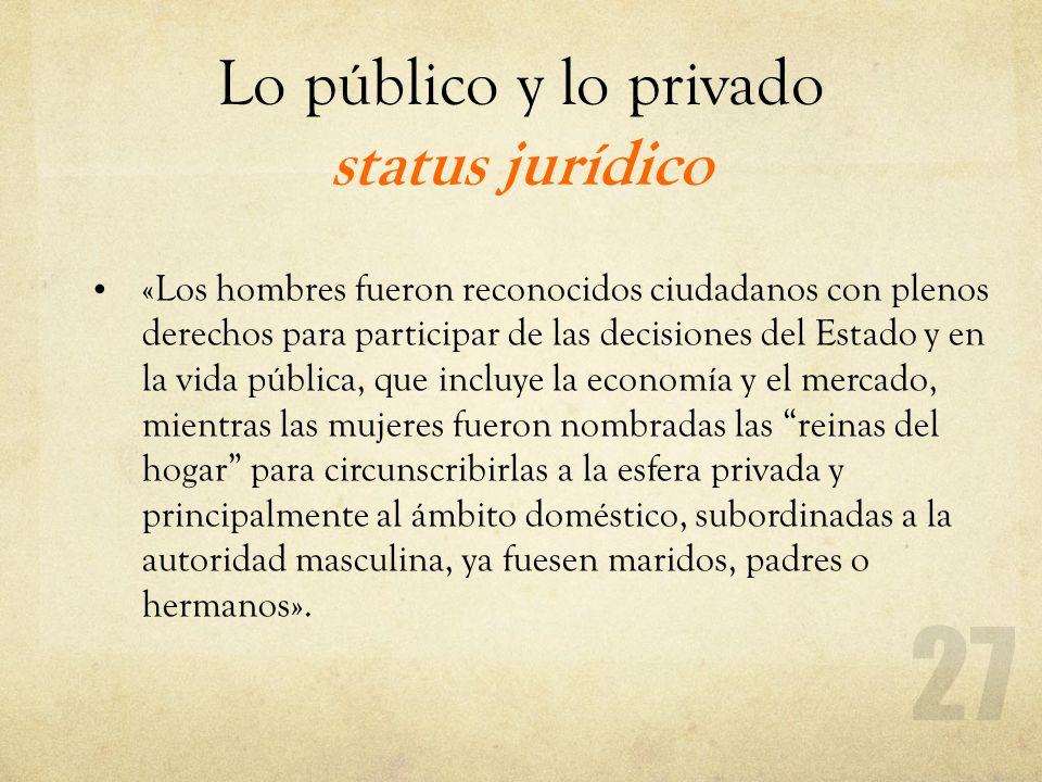 Lo público y lo privado status jurídico
