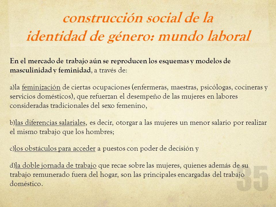 construcción social de la identidad de género: mundo laboral