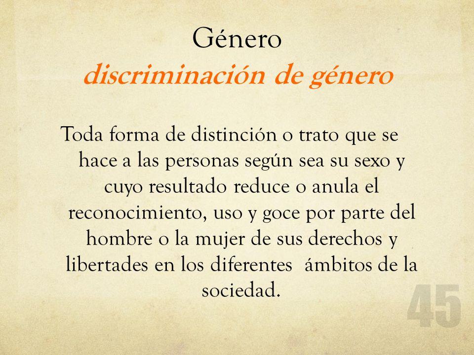 Género discriminación de género