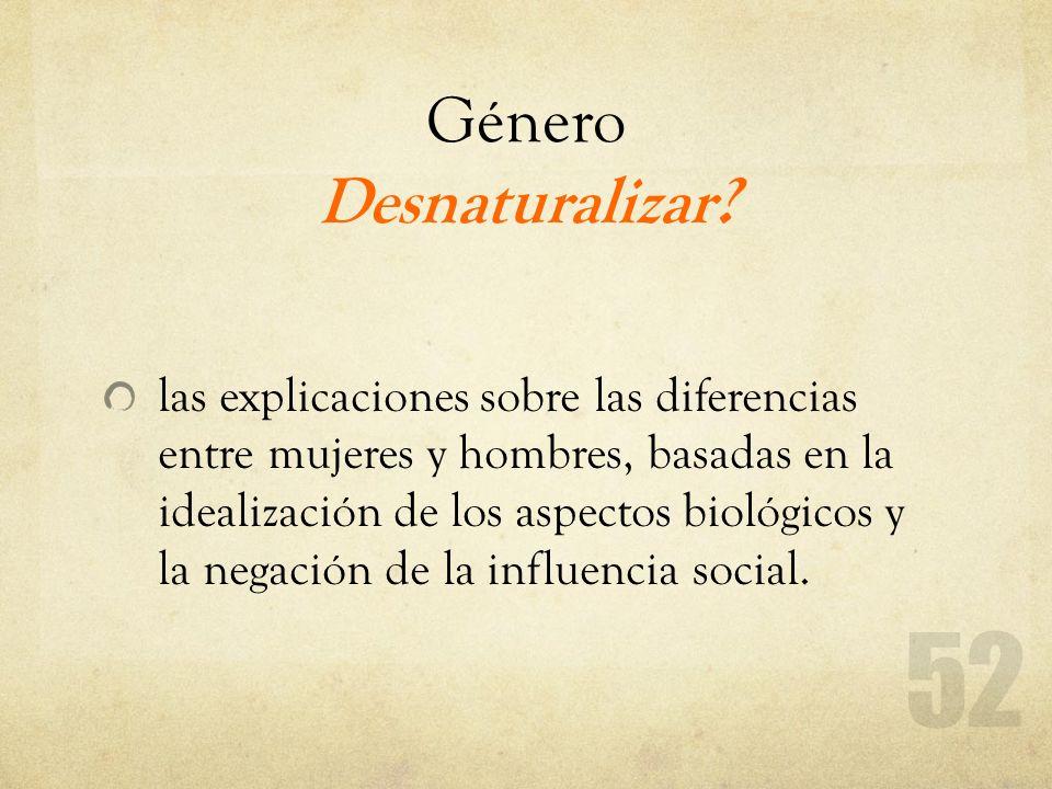 Género Desnaturalizar
