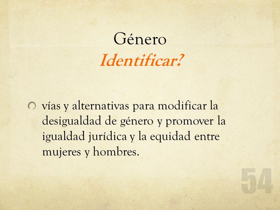 Género Identificar