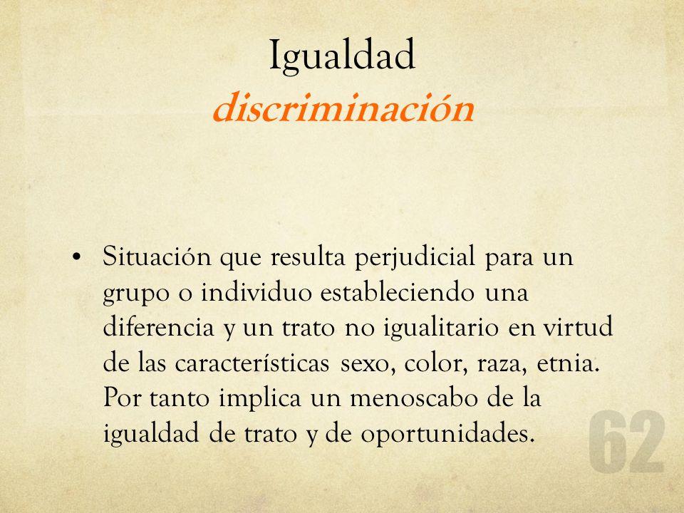Igualdad discriminación