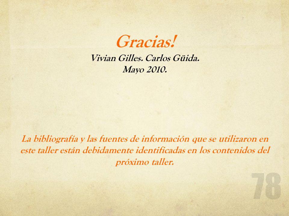 Gracias. Vivian Gilles. Carlos Güida. Mayo 2010
