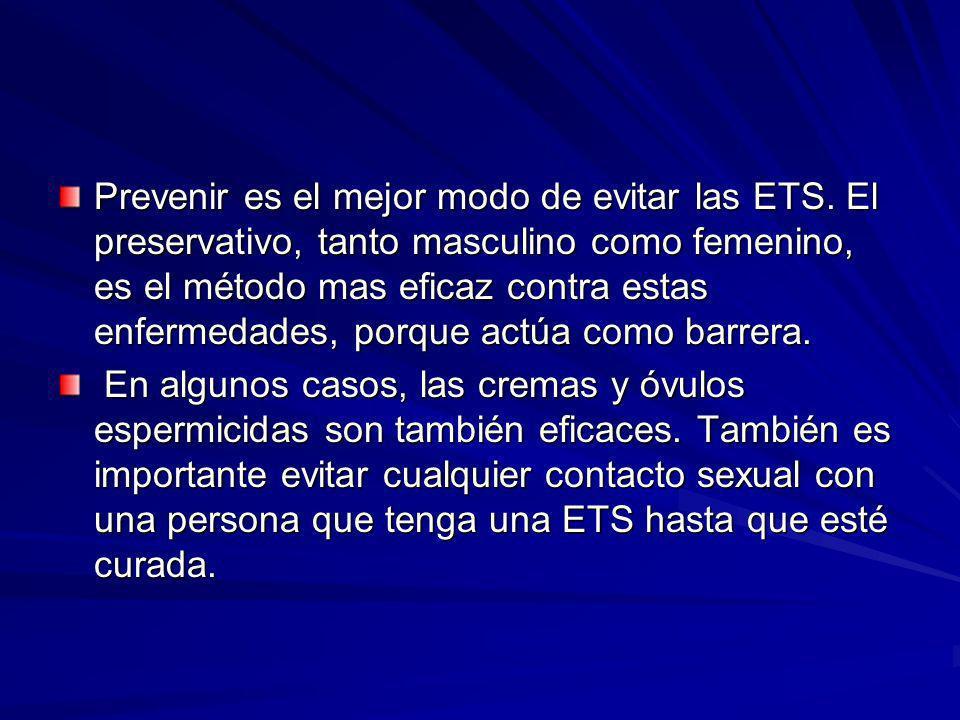 Prevenir es el mejor modo de evitar las ETS