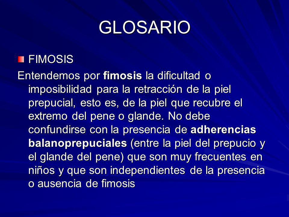 GLOSARIO FIMOSIS.