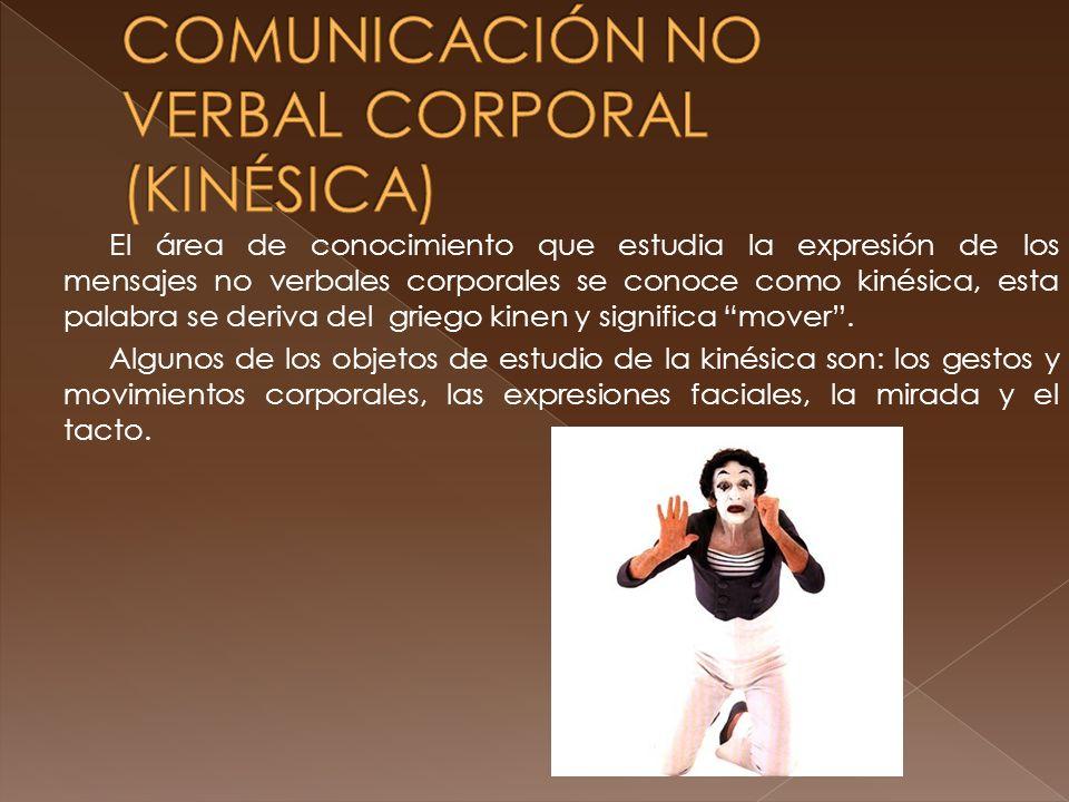 COMUNICACIÓN NO VERBAL CORPORAL (KINÉSICA)