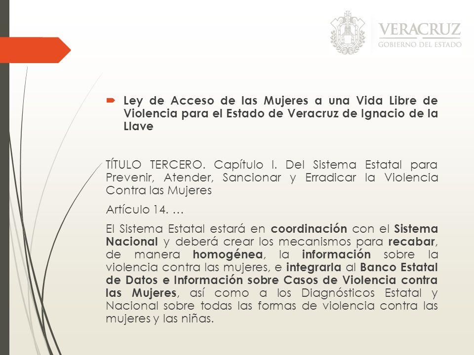 Ley de Acceso de las Mujeres a una Vida Libre de Violencia para el Estado de Veracruz de Ignacio de la Llave