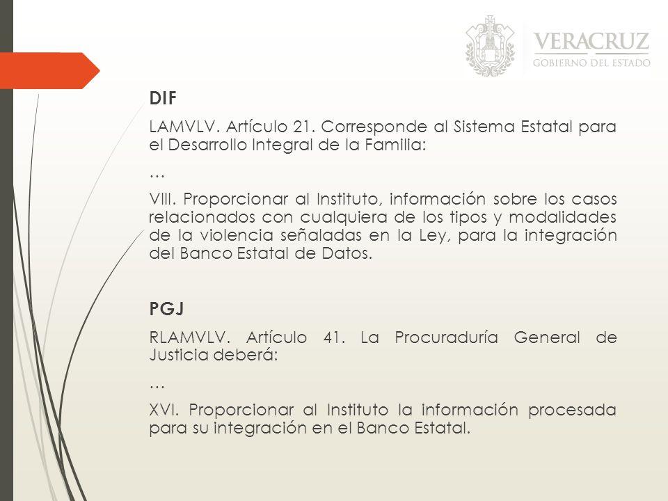 DIFLAMVLV. Artículo 21. Corresponde al Sistema Estatal para el Desarrollo Integral de la Familia: …