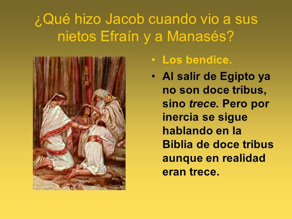 ¿Qué hizo Jacob cuando vio a sus nietos Efraín y a Manasés