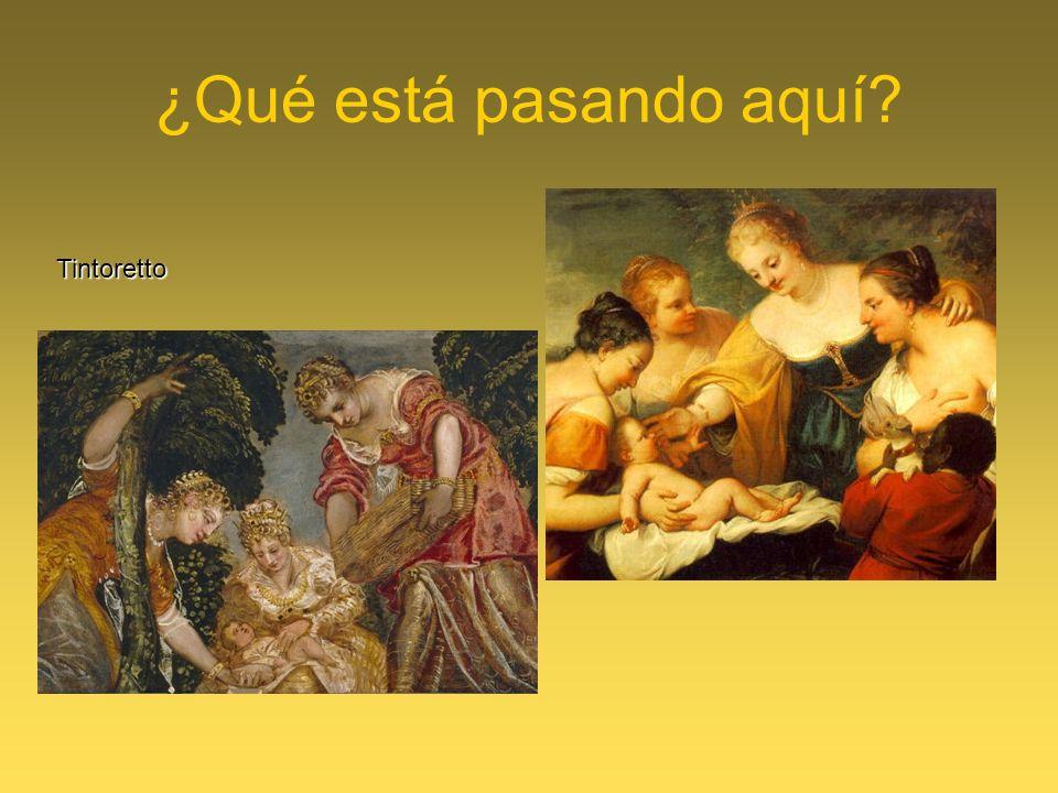 ¿Qué está pasando aquí Tintoretto