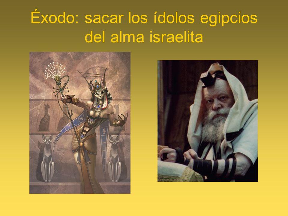 Éxodo: sacar los ídolos egipcios del alma israelita