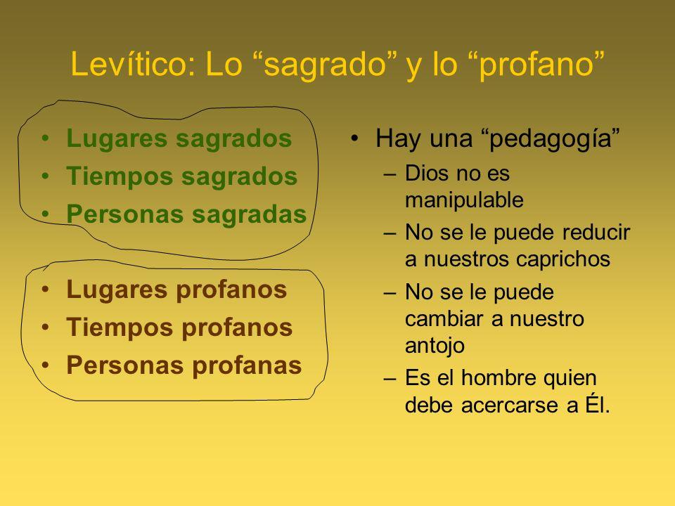 Levítico: Lo sagrado y lo profano