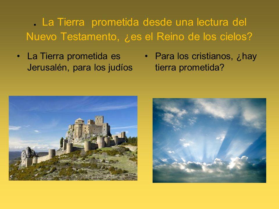 . La Tierra prometida desde una lectura del Nuevo Testamento, ¿es el Reino de los cielos