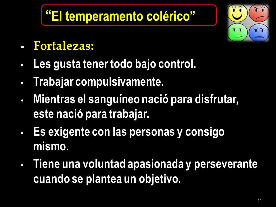 El temperamento colérico