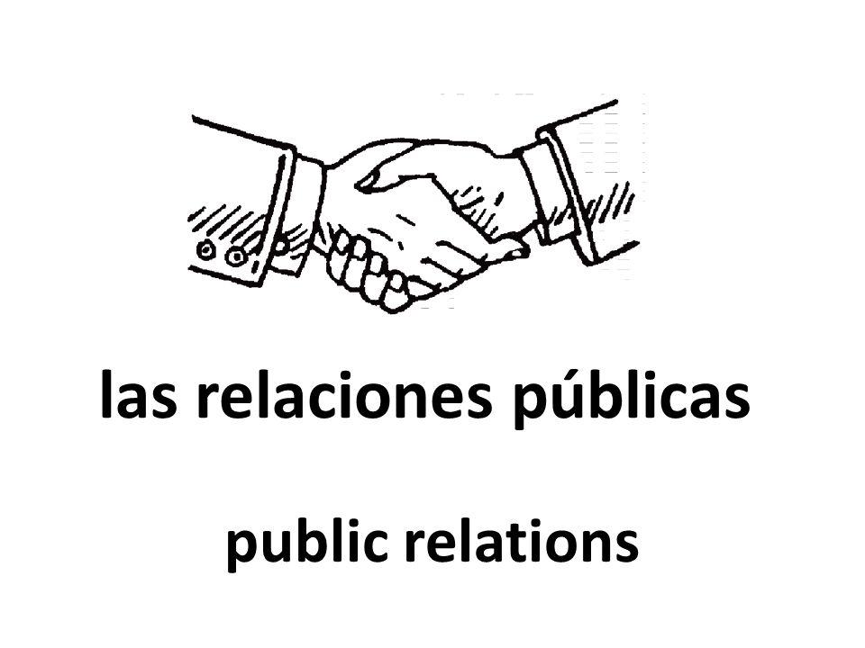 las relaciones públicas