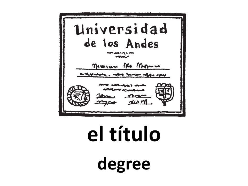 el título degree
