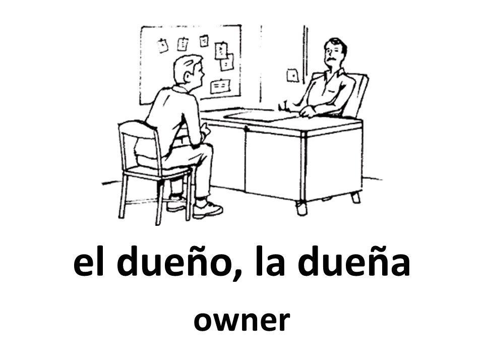 el dueño, la dueña owner