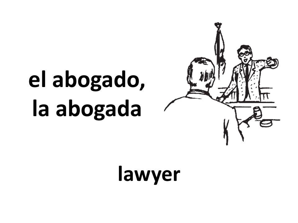 el abogado, la abogada lawyer