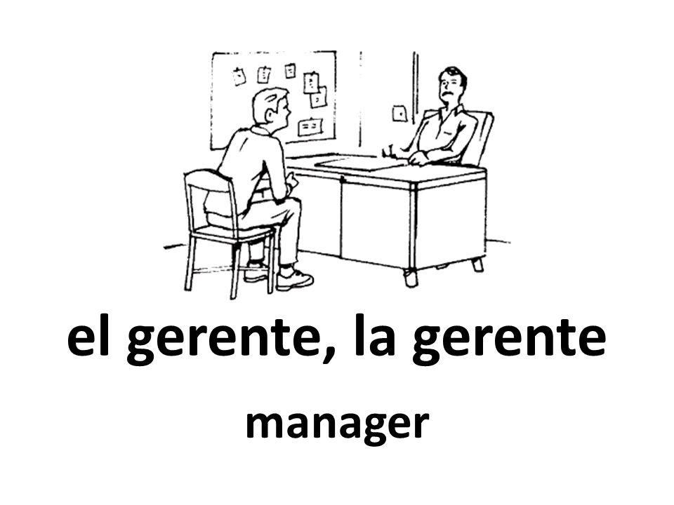 el gerente, la gerente manager
