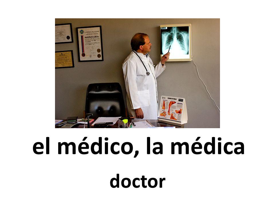 el médico, la médica doctor 62