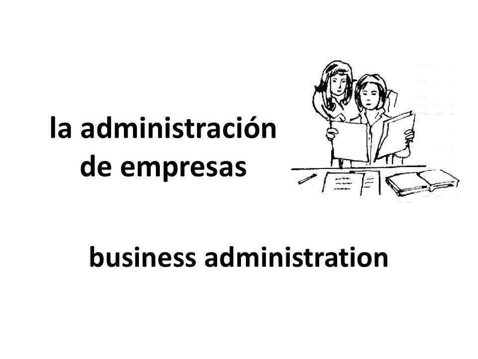 la administración de empresas
